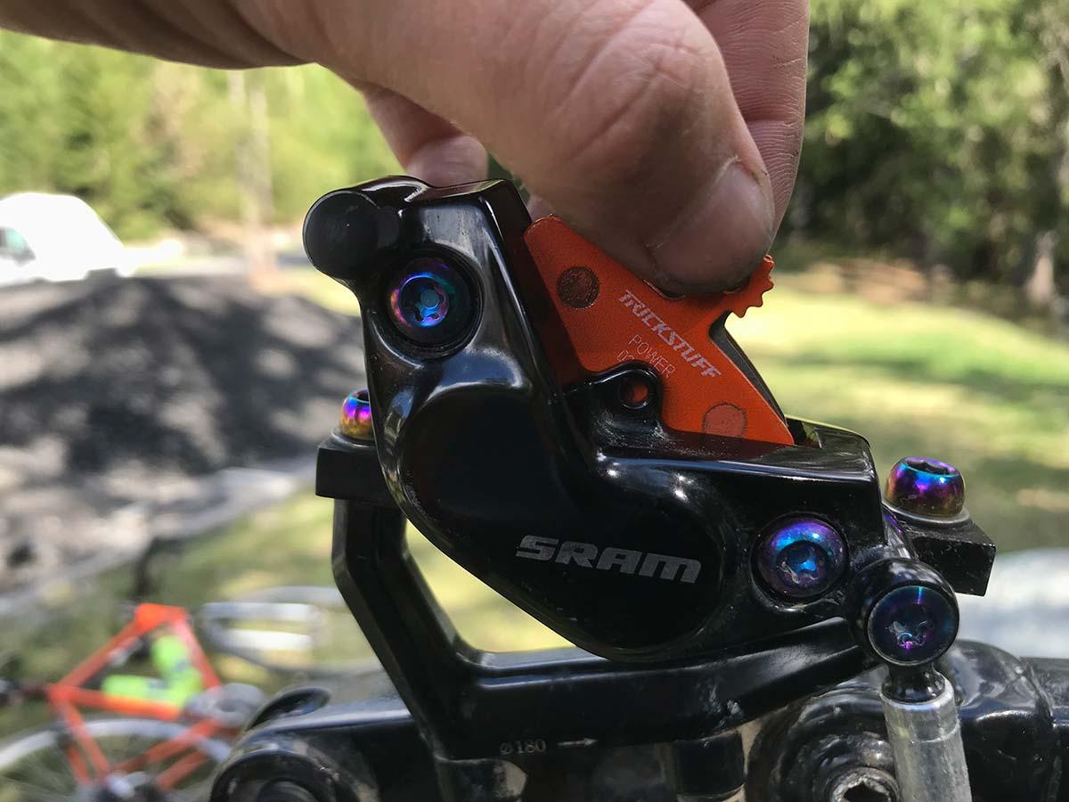 trickstuff power 840 pads very powerful compound sram code brakes