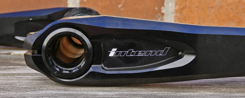 Intend Rocksteady cranks, made-in-Germany machined aluminum enduro all-mountain bike crankset,black