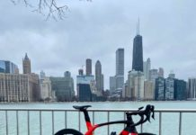 bikerumor pic of the day new trek bike day on the lakefront trail at milton lee olive park overlooking the chicago skyline in illinois