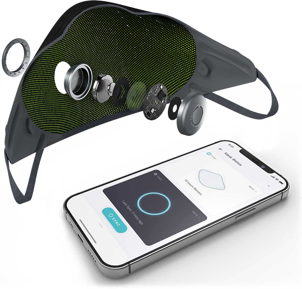 airpop active+ halo smart sensor tracks record breath rate