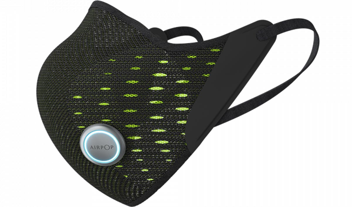 airpop smart sports mask led light indicates inhale exhale