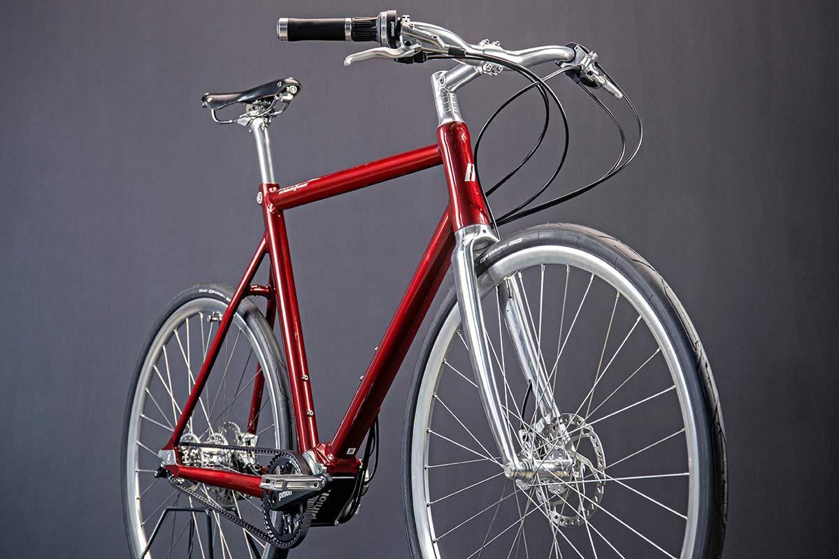 Schindelhauer Wilhelm CCLII 252-speed urban commuter bike, angled