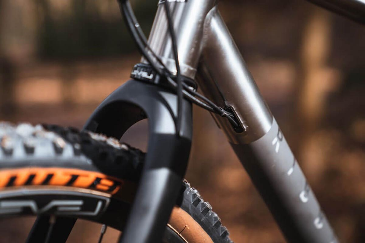 Ribble Gravel Ti gravel bike downtube