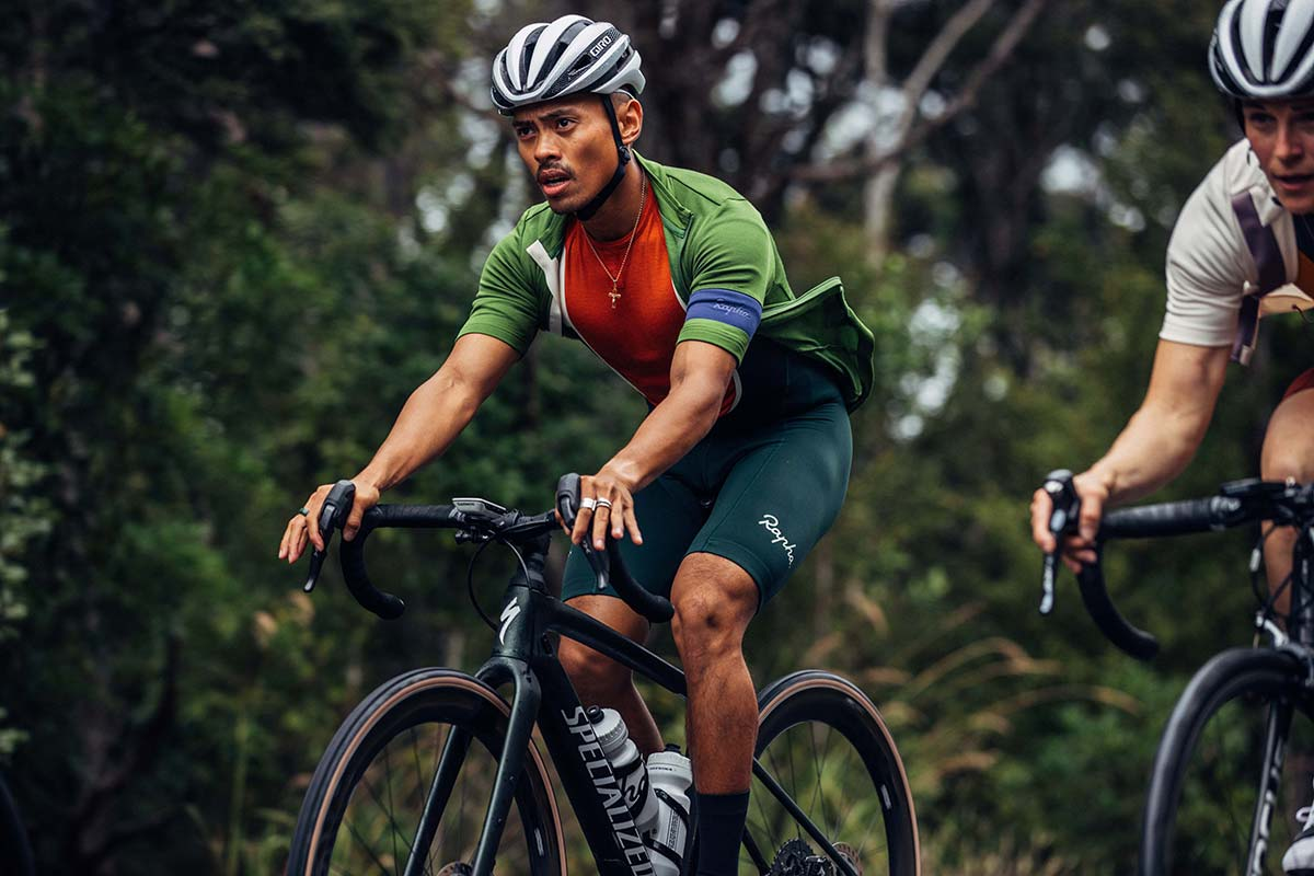 rapha classic jersey merino wool recycled polyester green blue