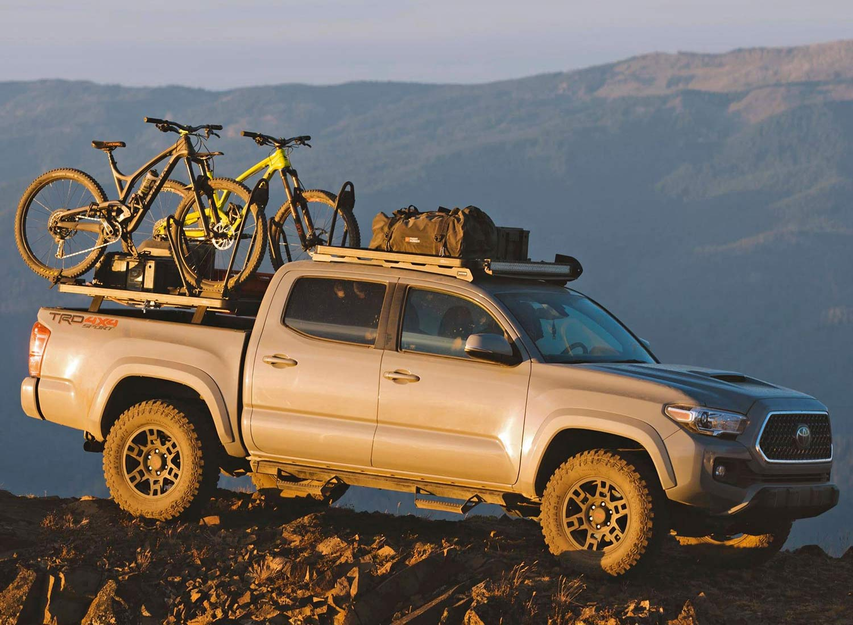 Front Runner Outfitters overland off-road bike racks, Pro Bike Carrier, wheels-on bike roof rack