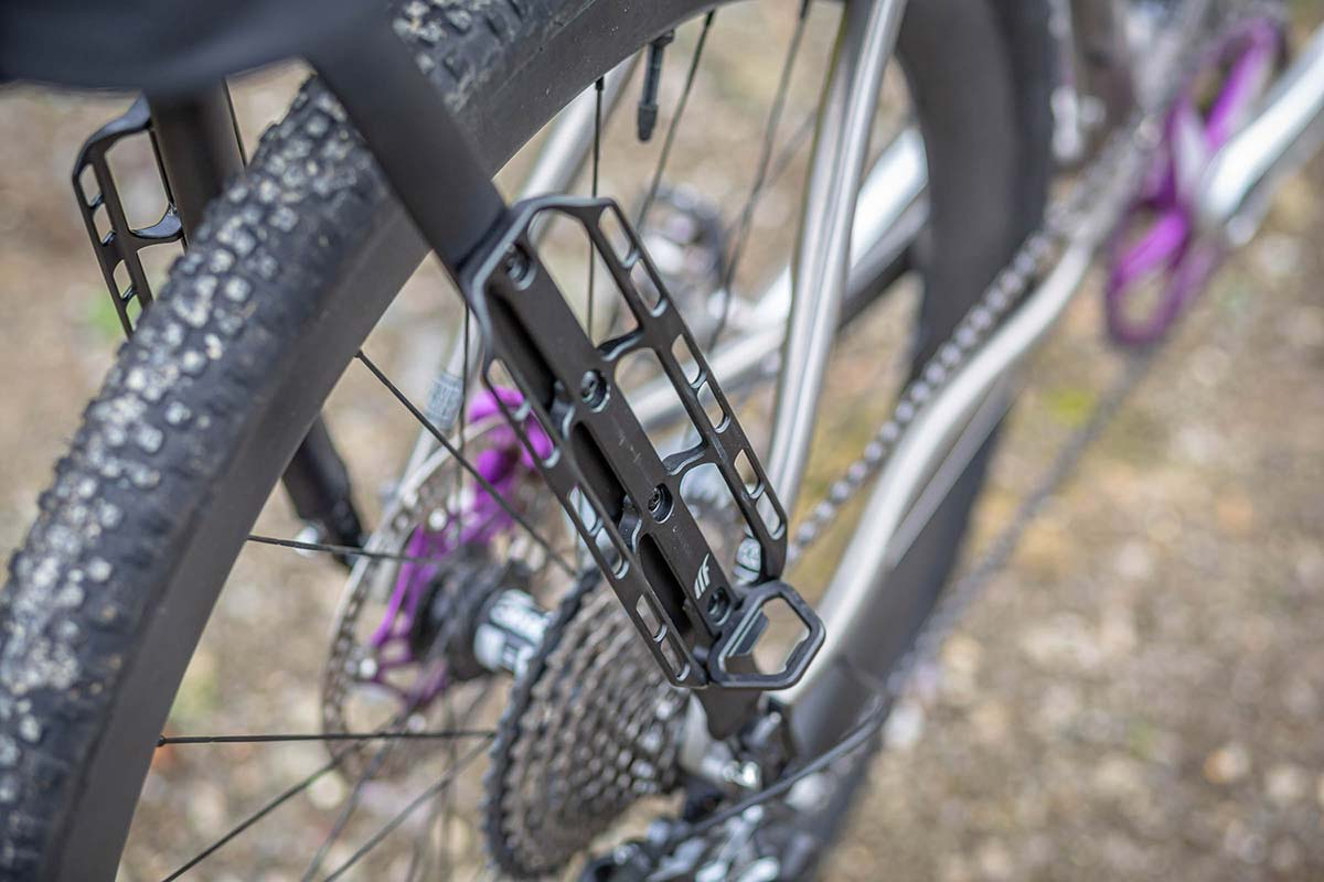The triple bosses use standard 64mm spacing so can be used with any brand of water bottle or cargo cage