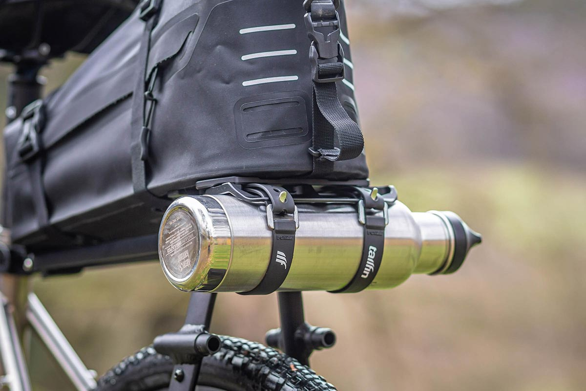 tailfin aeropack mount adds water carrying capacity seat pack bikepacking setups