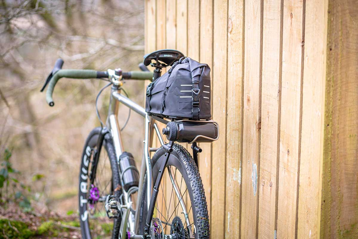 tailfin aeropack mount water bottle carry seatpack bikepacking