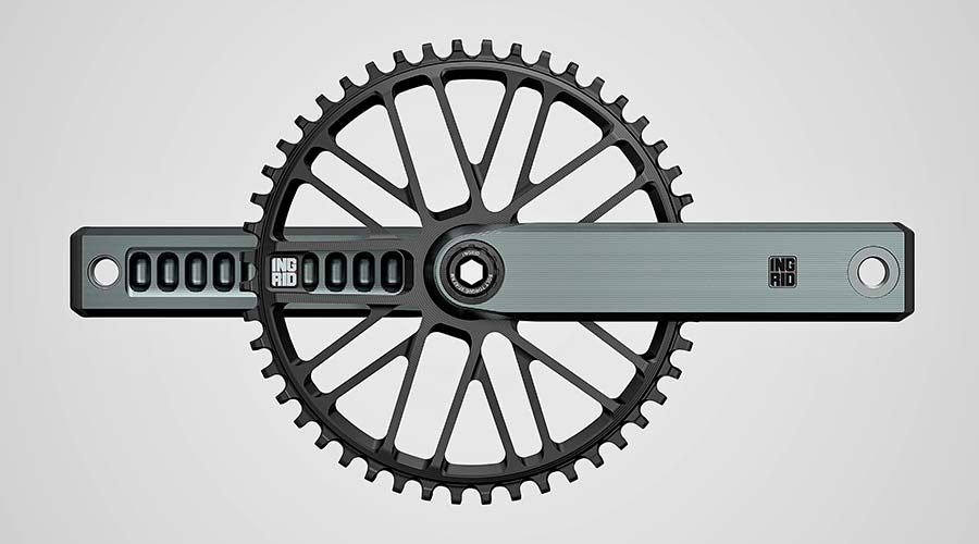 Ingrid Gran Turismo R 1x 11 12-speed road bike drivetrain, made-in-Italy, alloy crankset