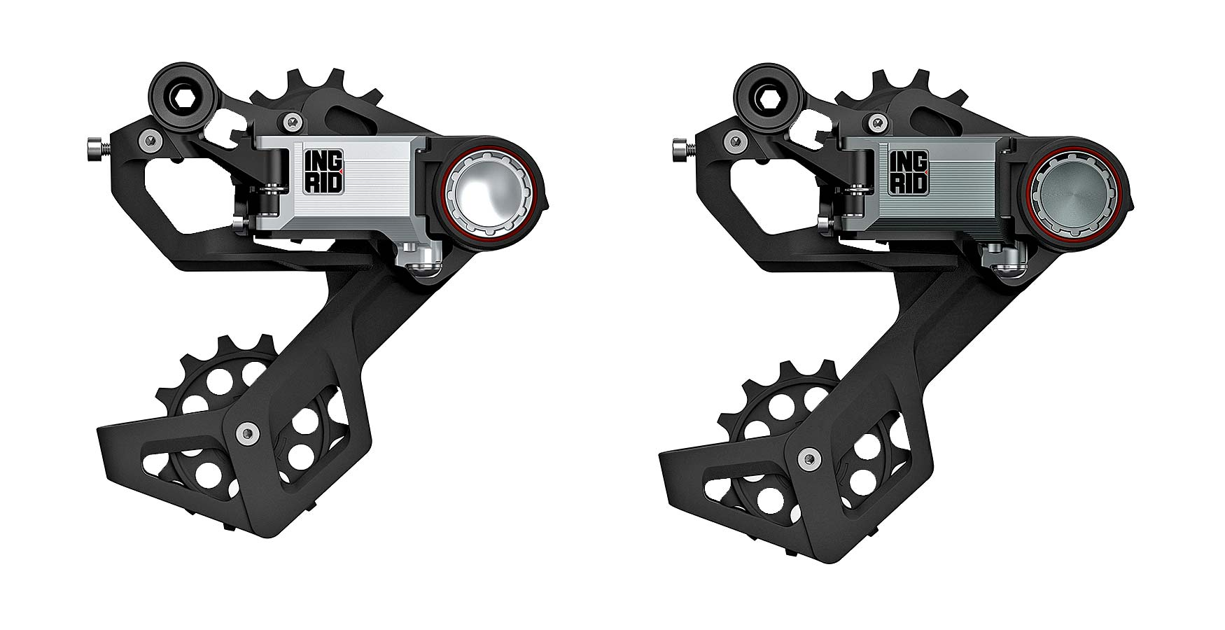 Ingrid Gran Turismo R 1x 11 12-speed road bike drivetrain, made-in-Italy, short or long cage rear derailleurs