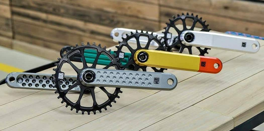Ingrid CNC-machined alloy cranks, made-in-Italy, photo by Loose Cycles