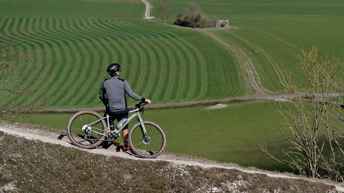 Cairn Brave adventure e-bike, rigid alloy off-road gravel bikepacking mountain eMTB,delay
