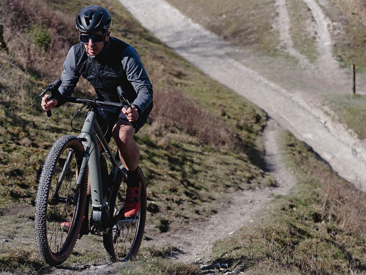 Cairn Brave adventure e-bike, rigid alloy off-road gravel bikepacking mountain eMTB,riding