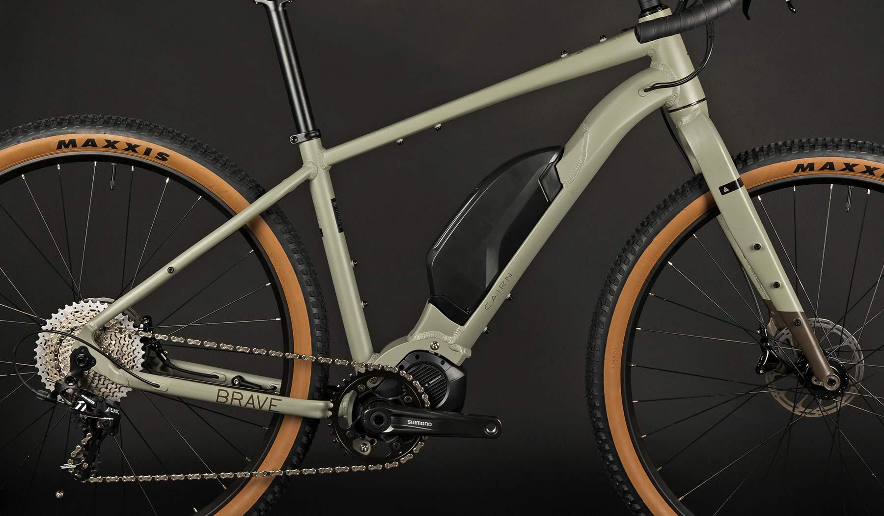 Cairn Brave adventure e-bike, rigid alloy off-road gravel bikepacking mountain eMTB,frameset