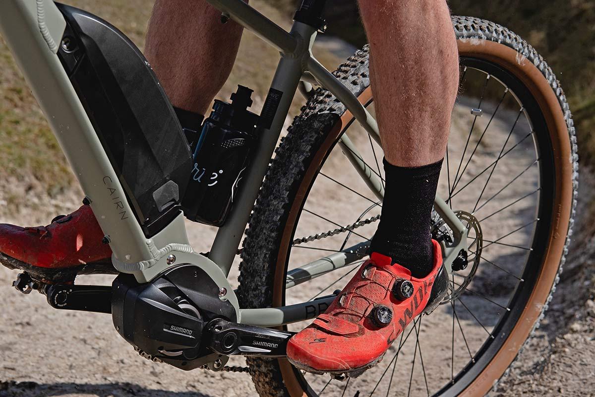 Cairn Brave adventure e-bike, rigid alloy off-road gravel bikepacking mountain eMTB,Shimano