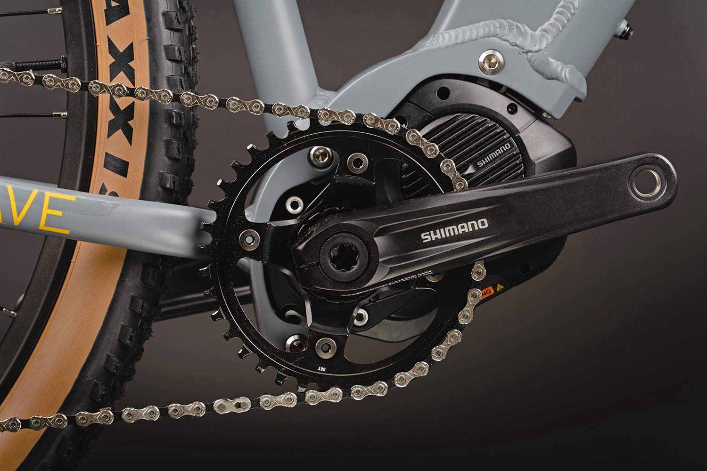Cairn Brave adventure e-bike, rigid alloy off-road gravel bikepacking mountain eMTB,Shimano E7000