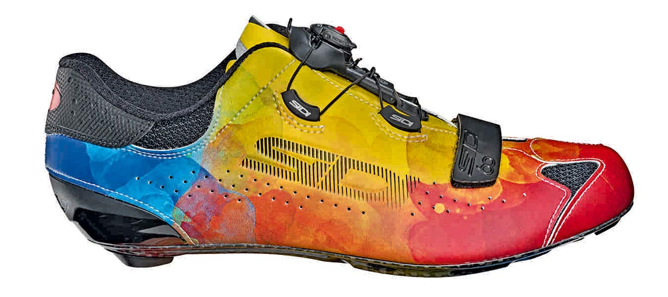 Sidi Sixty Multicolor limited edition road bike shoes