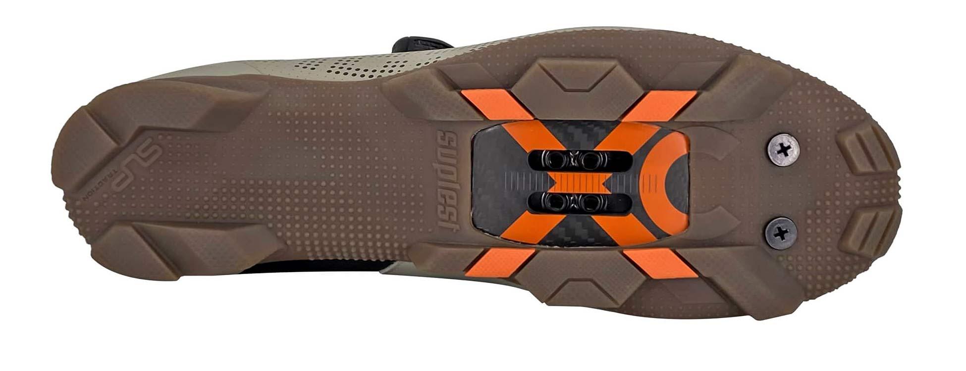 Suplest Gravel cycling shoe, OPEN-Suplest collaboration EDGEplus XC Gravel bike shoesSwiss Alpine gravel grey,sole