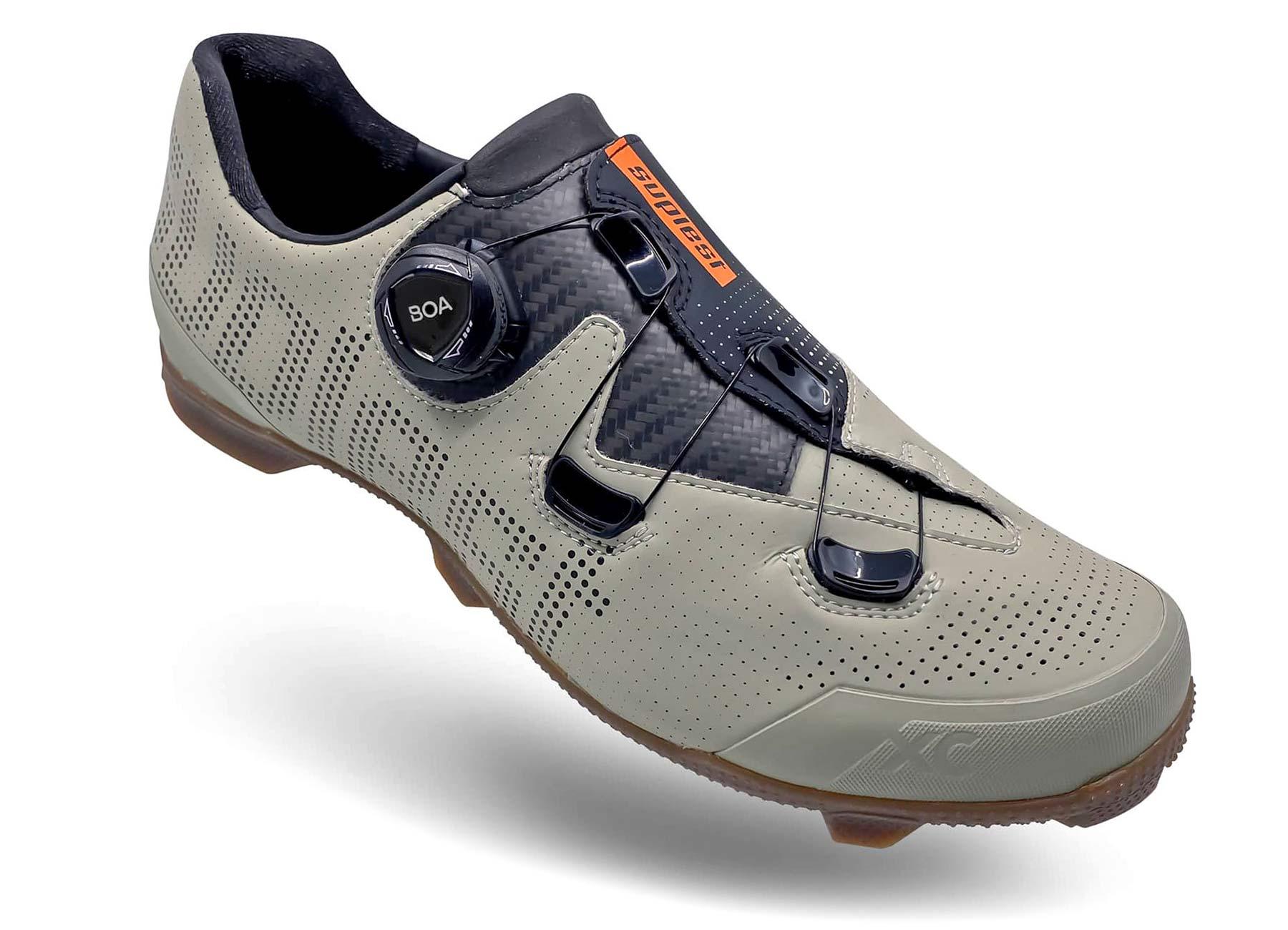 Suplest Gravel cycling shoe, OPEN-Suplest collaboration EDGEplus XC Gravel bike shoesSwiss Alpine gravel grey,angled