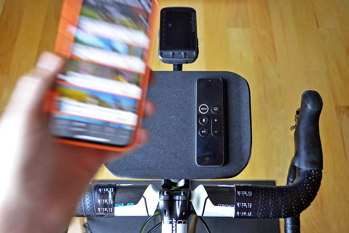 Foothill Trainer Tray, lightweight US-made phone remote snack holder for indoor training,extra out-front mount