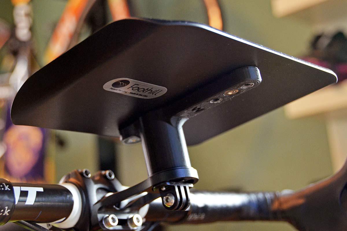 Foothill Trainer Tray, lightweight US-made phone remote snack holder for indoor training,underside bracket
