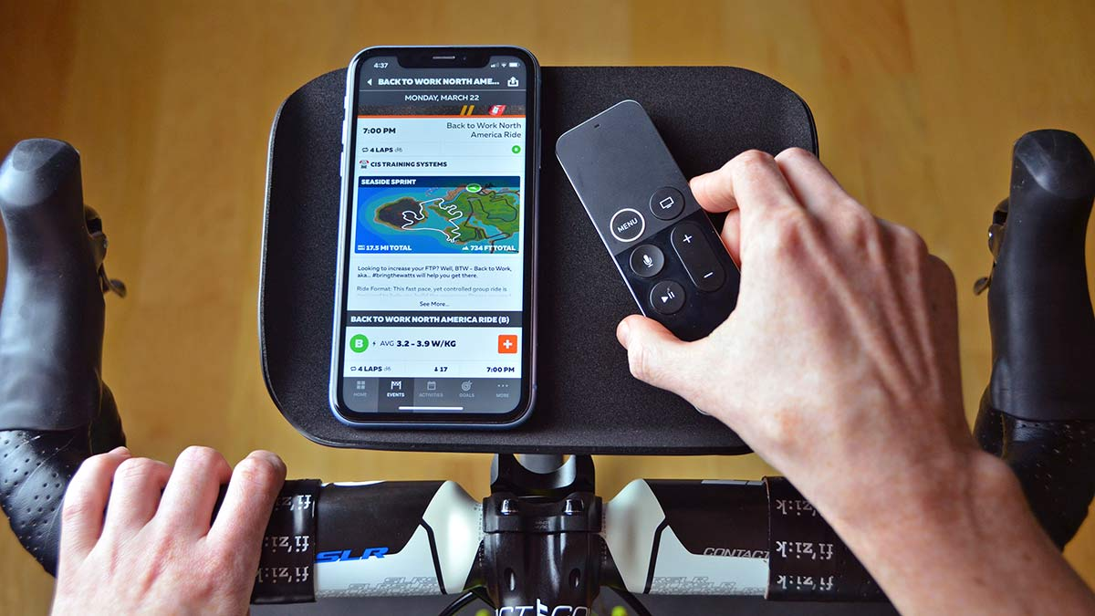Foothill Trainer Tray, lightweight US-made phone remote snack holder for indoor training appleTV