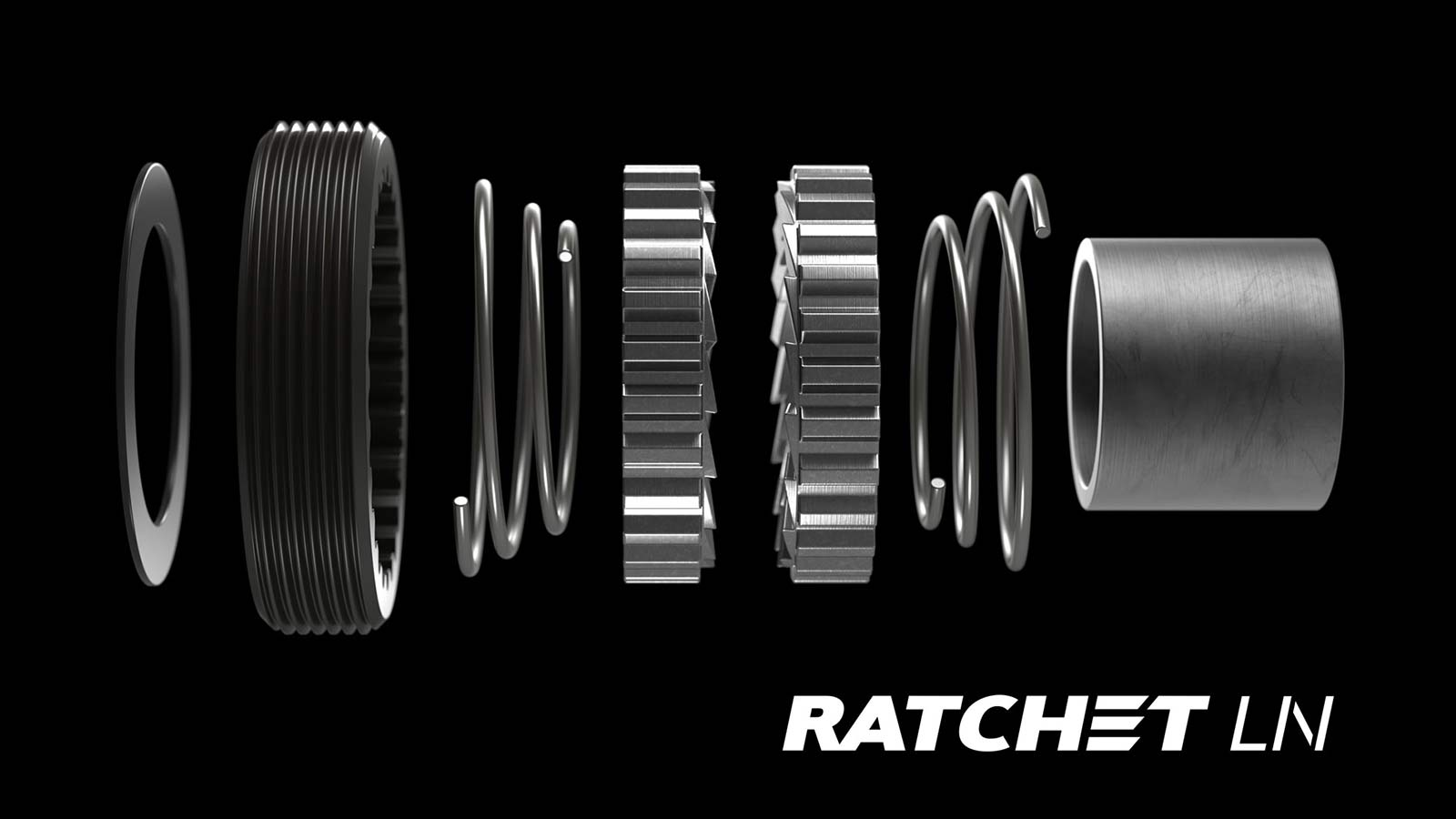 DT Swiss Ratchet LN hub upgrade kit, from 3-pawls to Star Ratchet,components