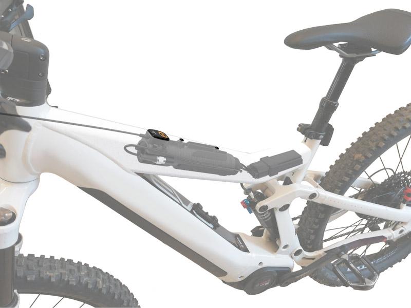 Blubrake e-bike ABS system, electronics in frame