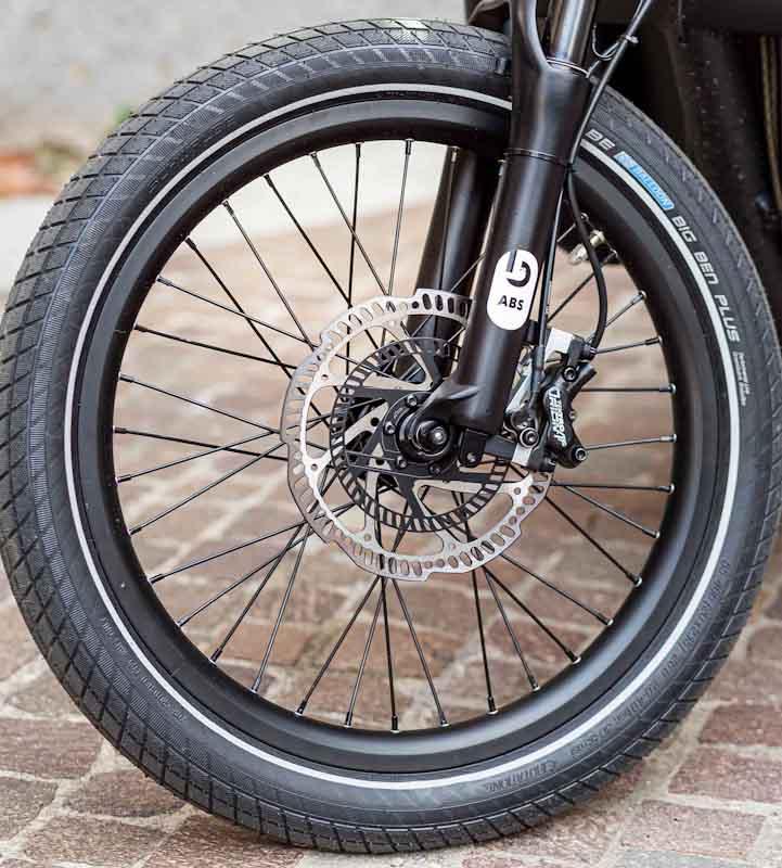 Blubrake e-bike ABS system, front wheel