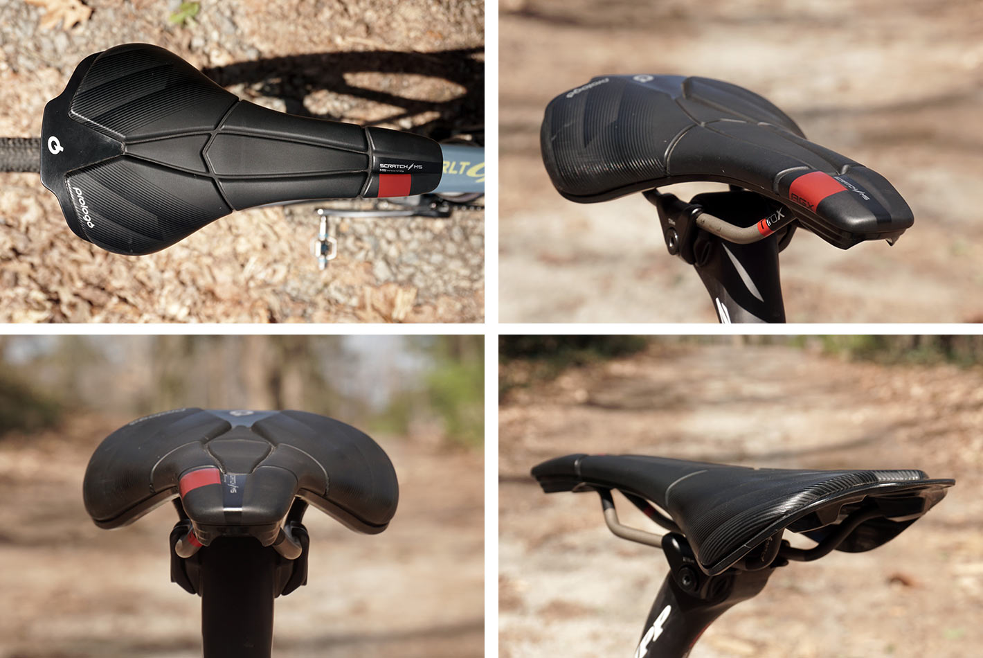 prologo scratch M5 AGX saddle profile shown from different angles