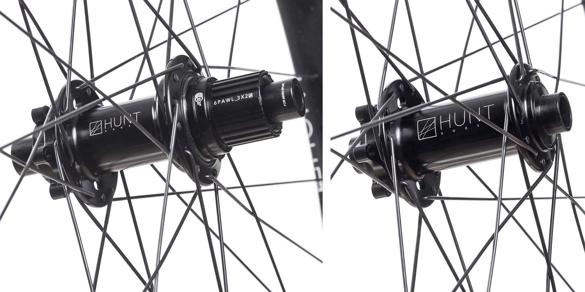 Hunt Trail Wide v2 versatile alloy mountain bike wheels, hubs