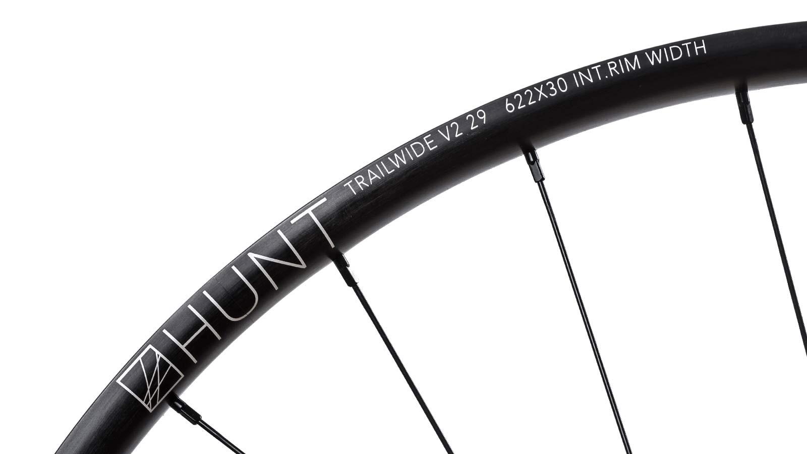 Hunt Trail Wide v2 versatile alloy mountain bike wheels, rim detail