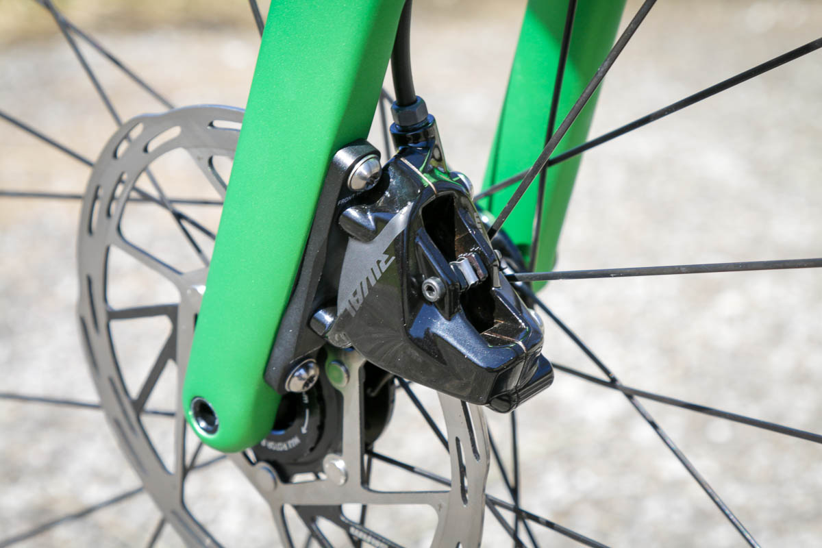 SRAM Rival eTap AXS wireless drivetrain front brake
