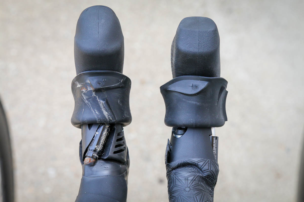 SRAM Rival eTap AXS wireless shifters compared to force