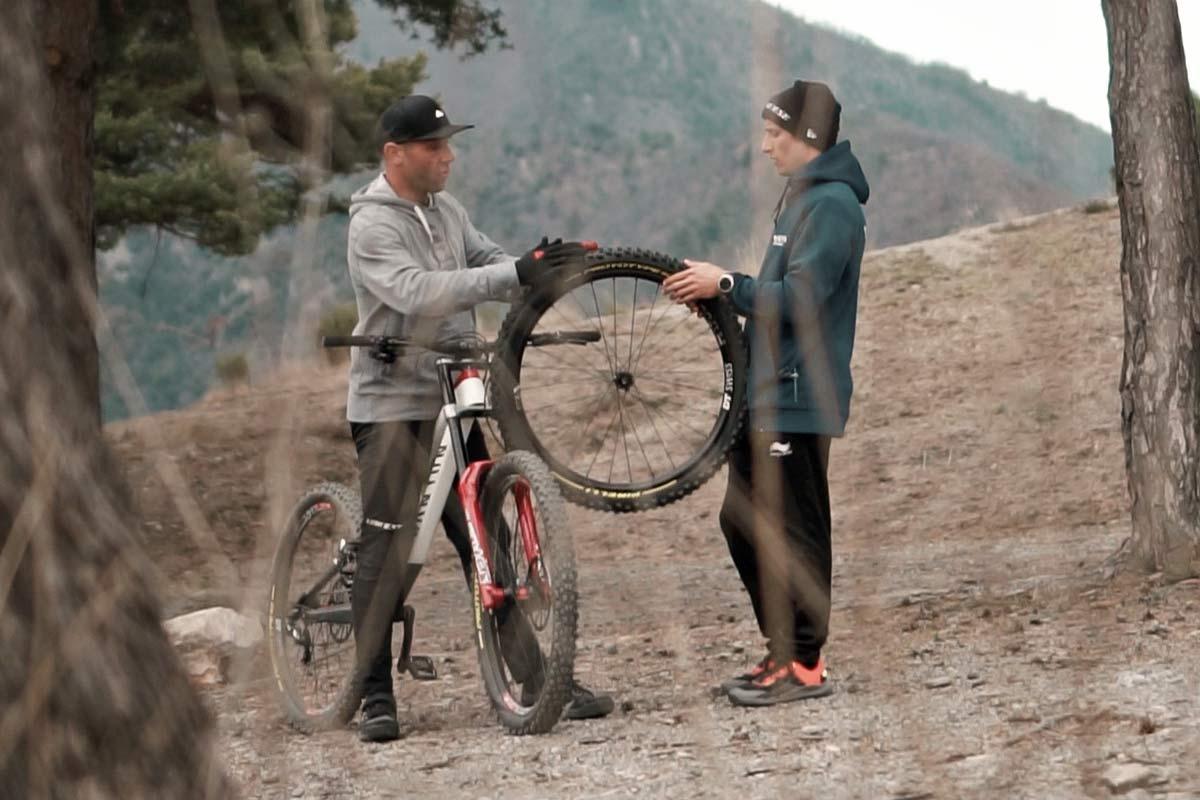 Pirelli Scorpion Gravity Racing prototype EWS, DH-ready mountain bike tires, photos by Julien Pradas,development testing
