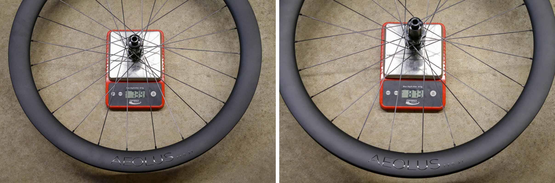Bontrager Aeolus pro road wheels weight
