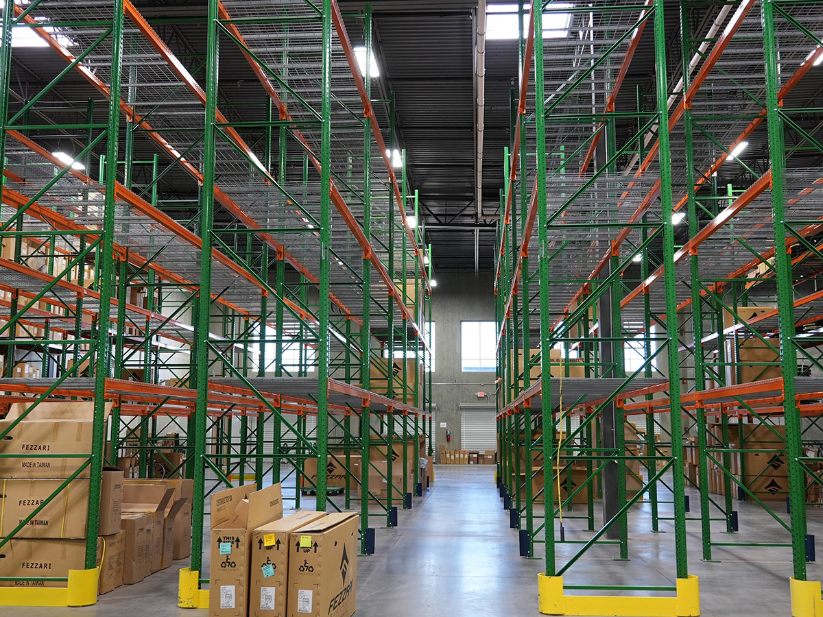 fezzari headquarters tour of warehouse with empty shelves because they are out of stock