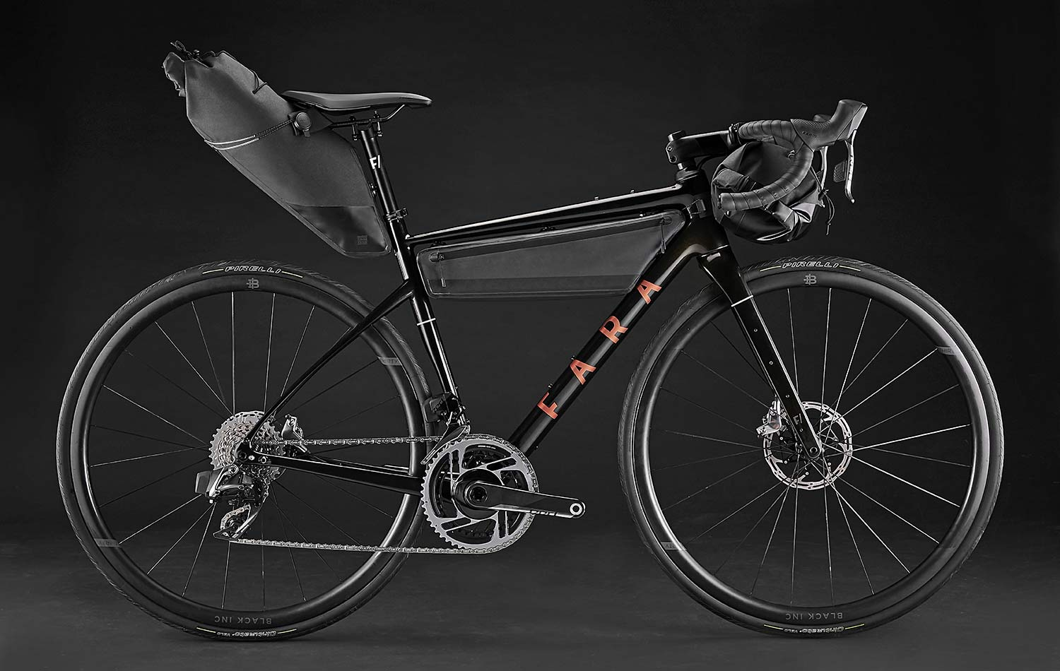 2021 Fara F-AR all-road bike ltd Signature Edition, carbon endurance gravel road bike with integrated bikepacking bags,