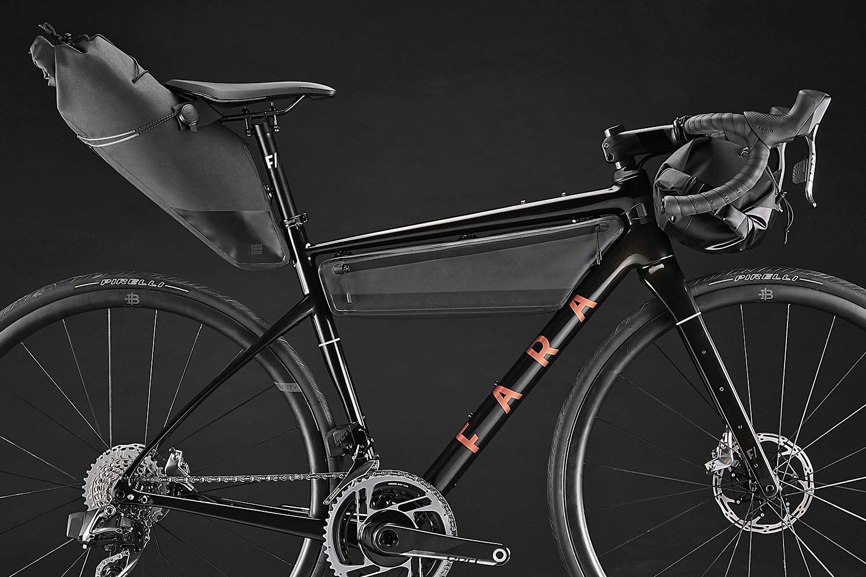 2021 Fara F-AR all-road bike ltd Signature Edition, carbon endurance gravel road bike with integrated bikepacking bags,Roswheel bag detail