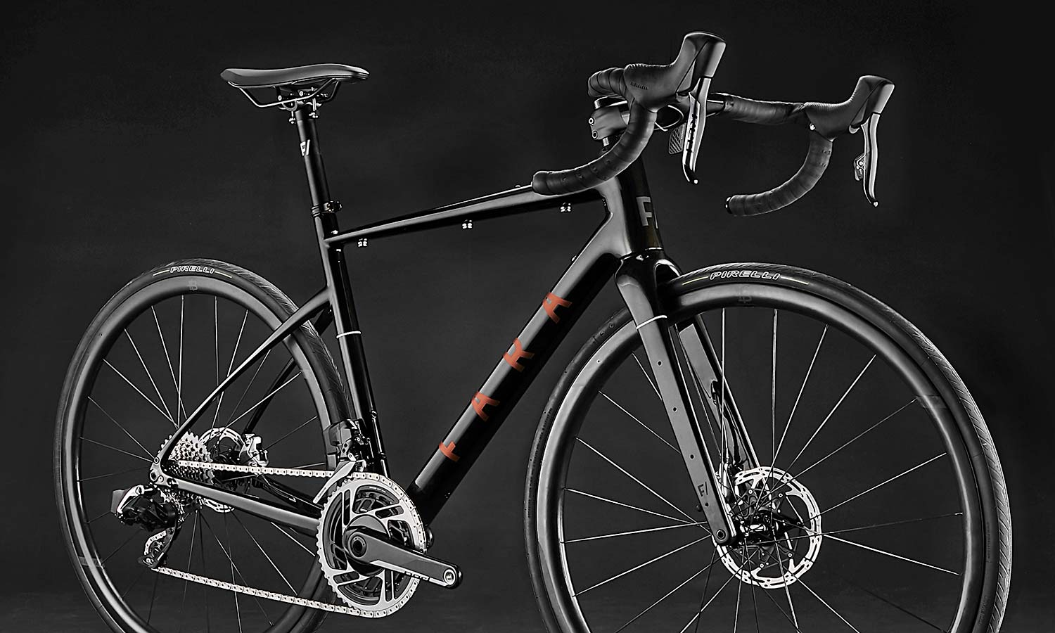 2021 Fara F-AR all-road bike ltd Signature Edition, carbon endurance gravel road bike with integrated bikepacking bags, angled