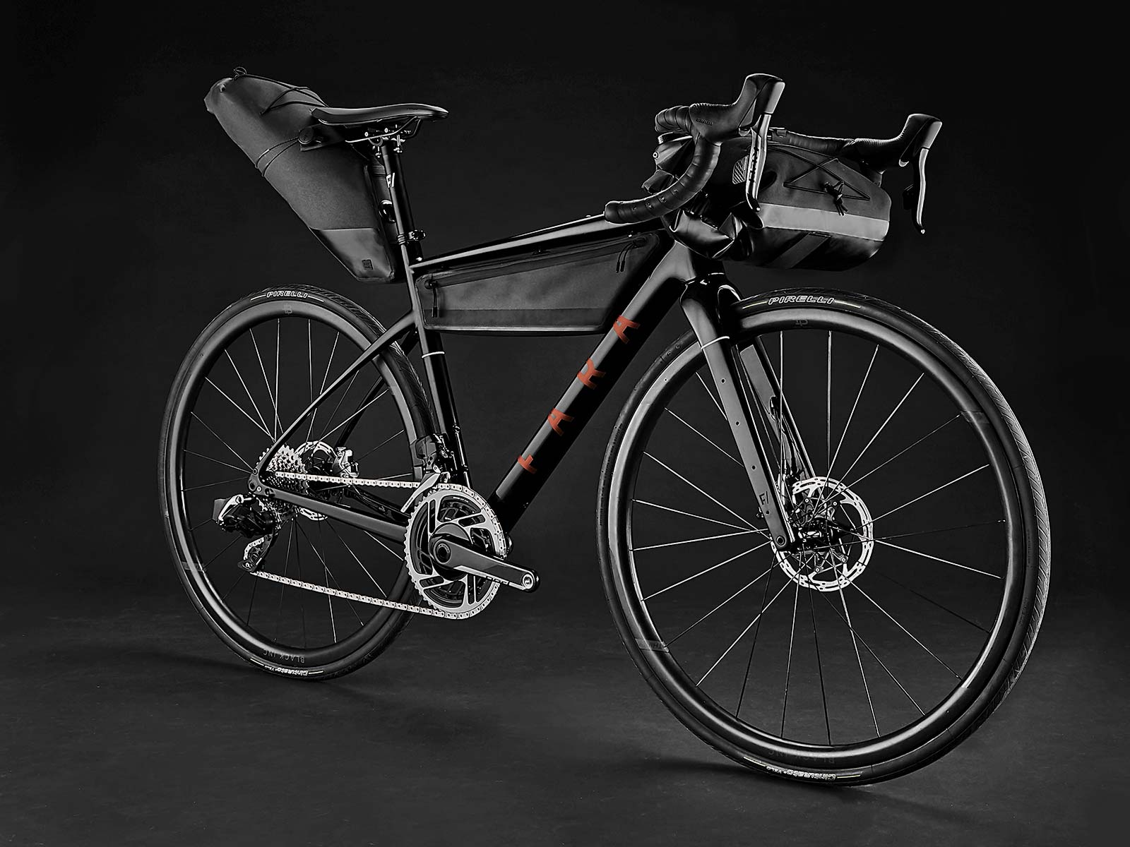 2021 Fara F-AR all-road bike ltd Signature Edition, carbon endurance gravel road bike with integrated bikepacking bags,complete angled