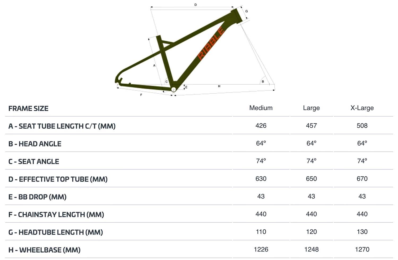 Ribble HT AL 27.5 enduro hardtail 150mm fork mountain bike,geometry