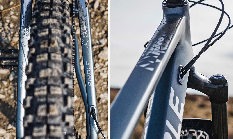 Ribble HT Trail AL 29 all-rounder hardtail 130mm fork mountain bike,frame details