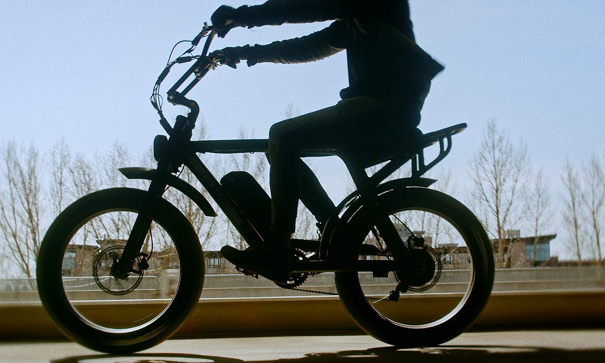 Biktrix Moto e-bike, urban mobility eMTB e-moped alternative transportation, shadow silhouette