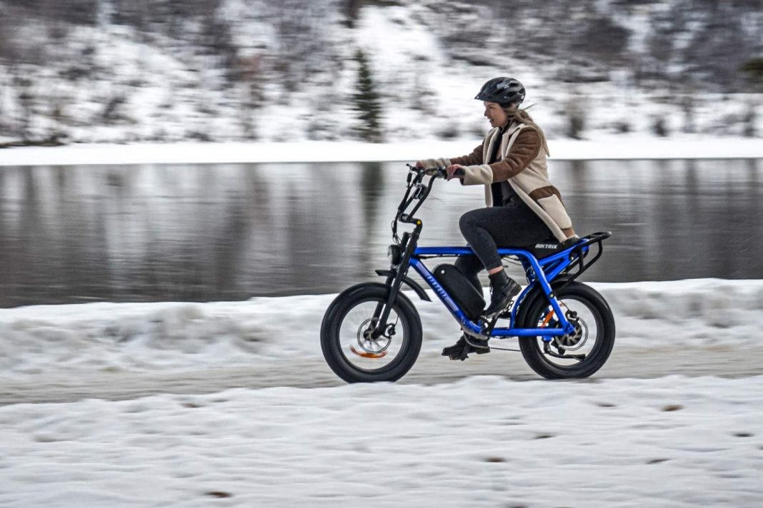 Biktrix Moto e-bike, urban mobility eMTB e-moped alternative transportation, winter commuter