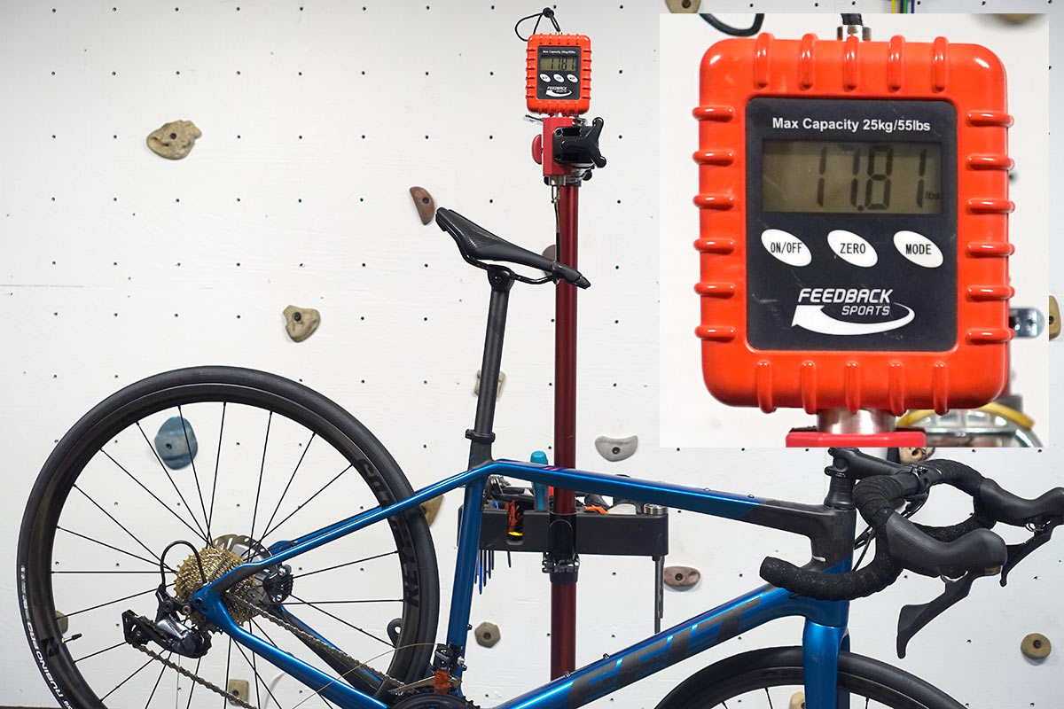 felt vr advanced road bike actual weight on a scale