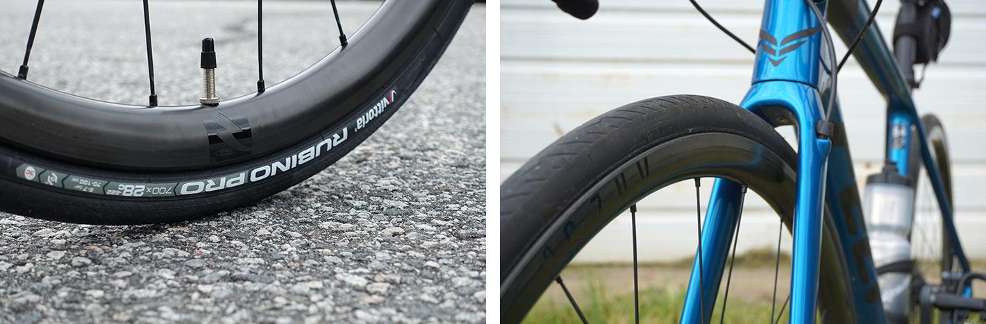 stock tires versus tubeless upgrade road bike tires for felt vr