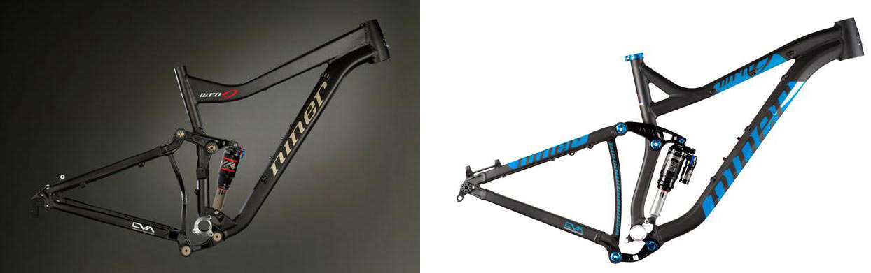 niner WFO frame comparison over the years