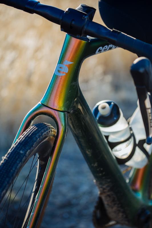 Cervelo Aspero-5 aero gravel bike head tube