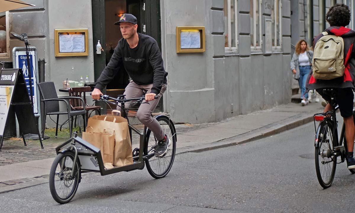 KP Cyclery Nighthawk steel cargo bike, affordable EU-made customizable long john cargo bikes,grocery getter